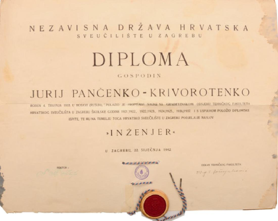 Diploma for an Engineer from the Faculty of Technology