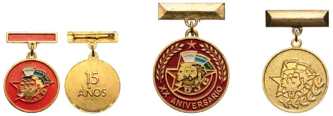 Union of Communist Youth Badges, 3 different Badges