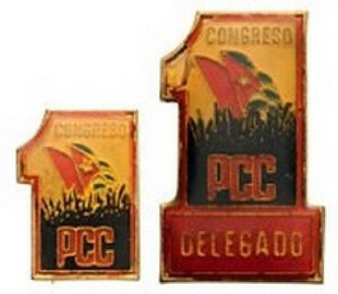 1st Congress of the Cuban Communist Party, 2 Badges: 1