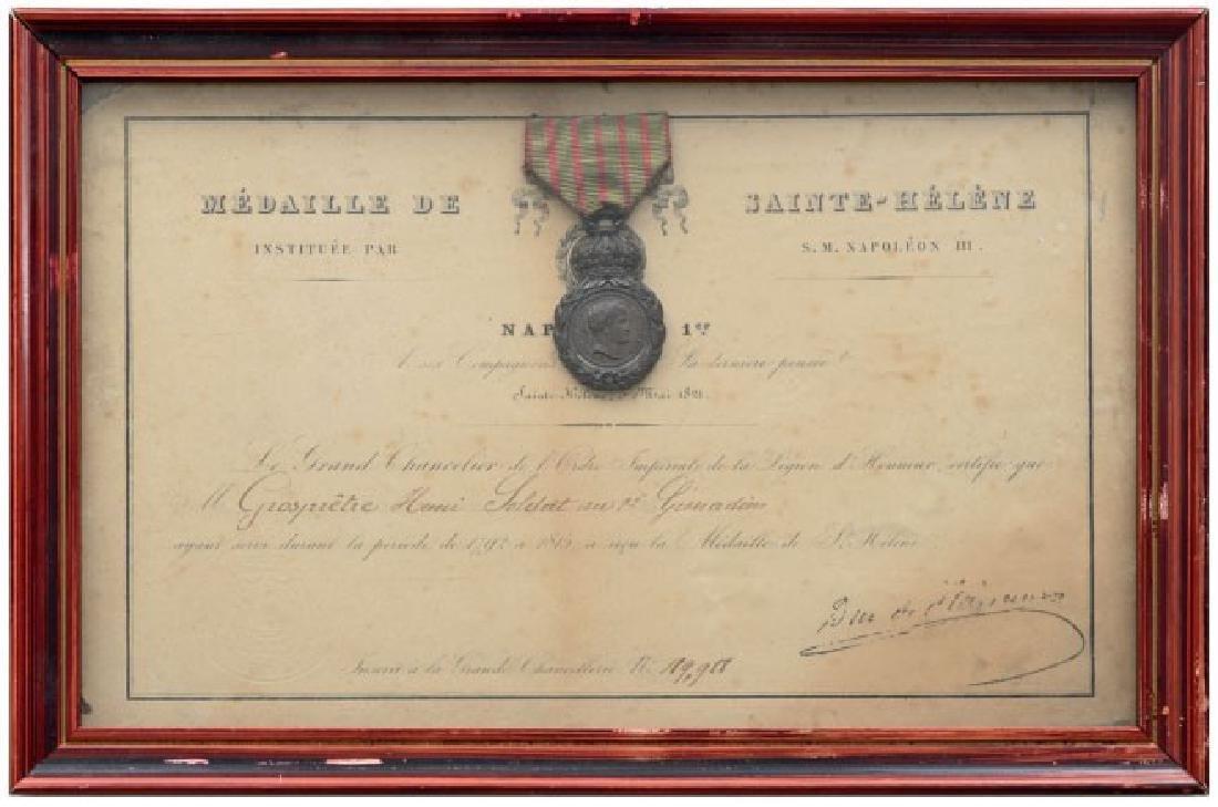 Sainte Hélène Medal, instituted in 1857