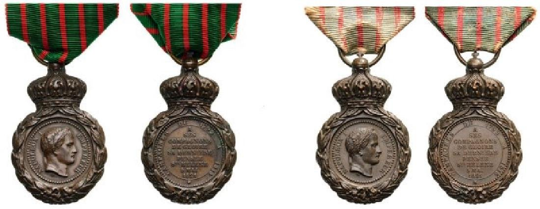 Lot of 2 Sainte Hélène Medal, instituted in 1857