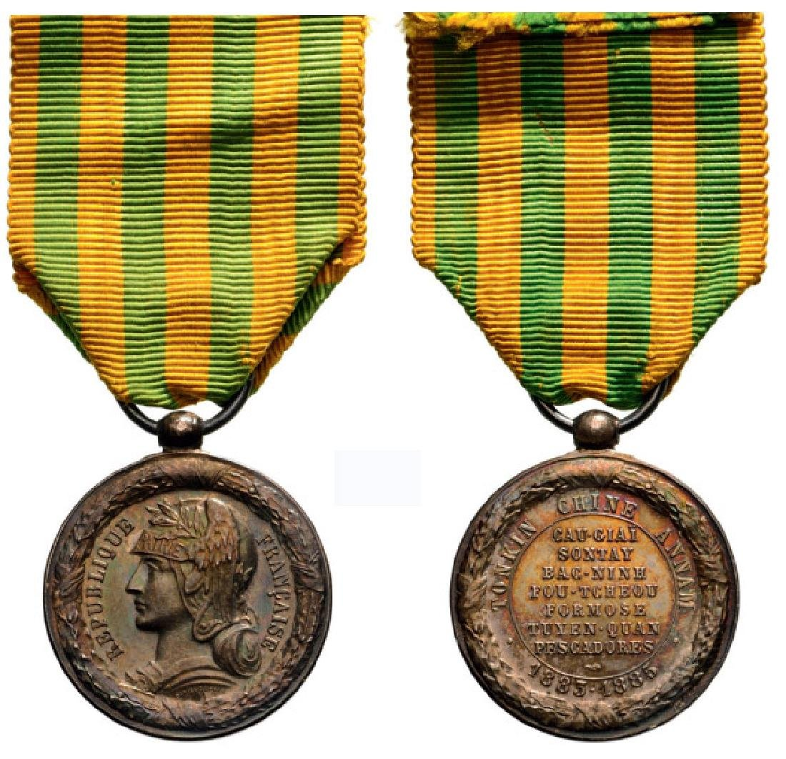 China–Tonkin–Annam Campaign Medals, instituted in 1885