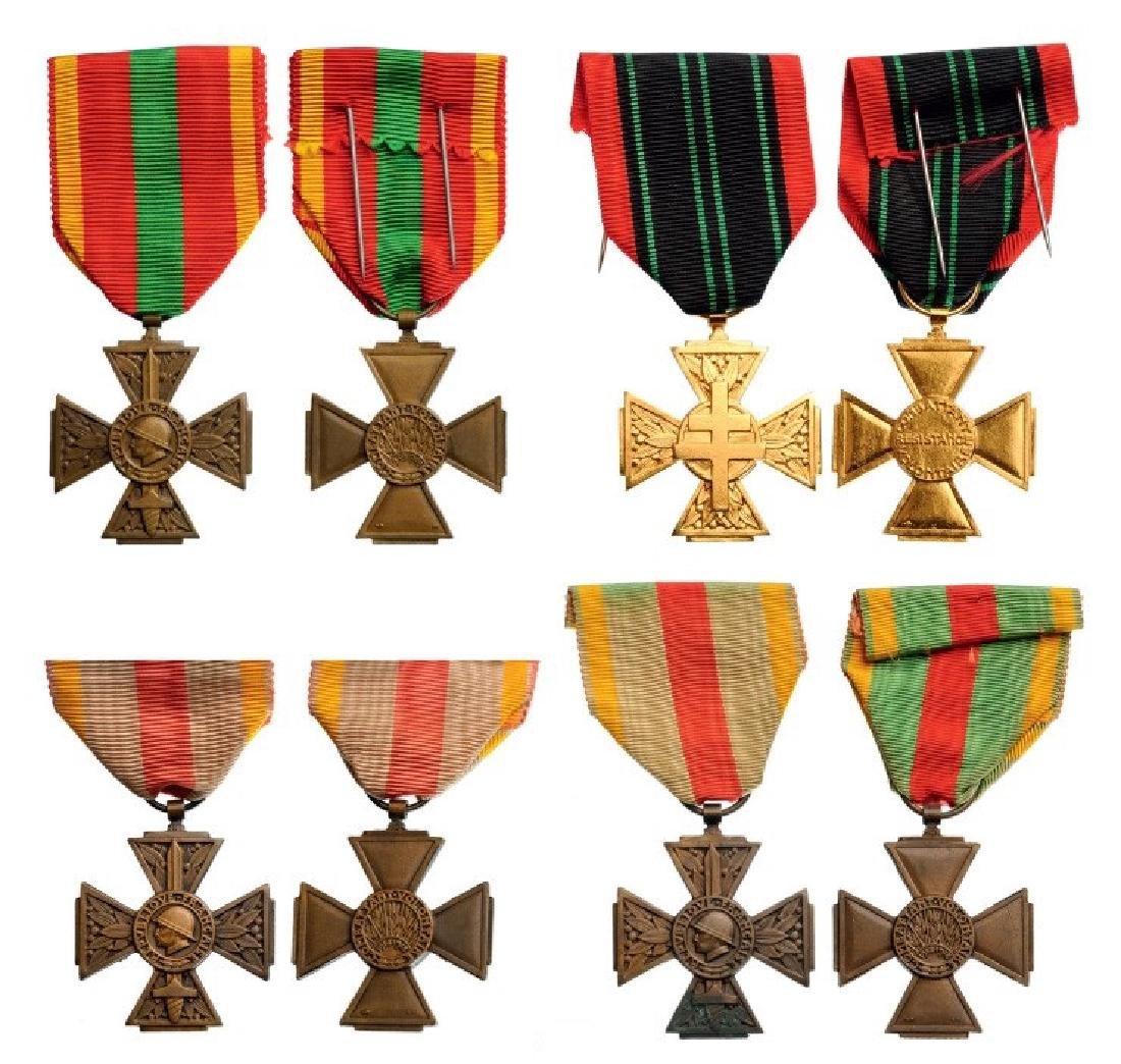 Lot of 4 Volunteer Combatant Medals