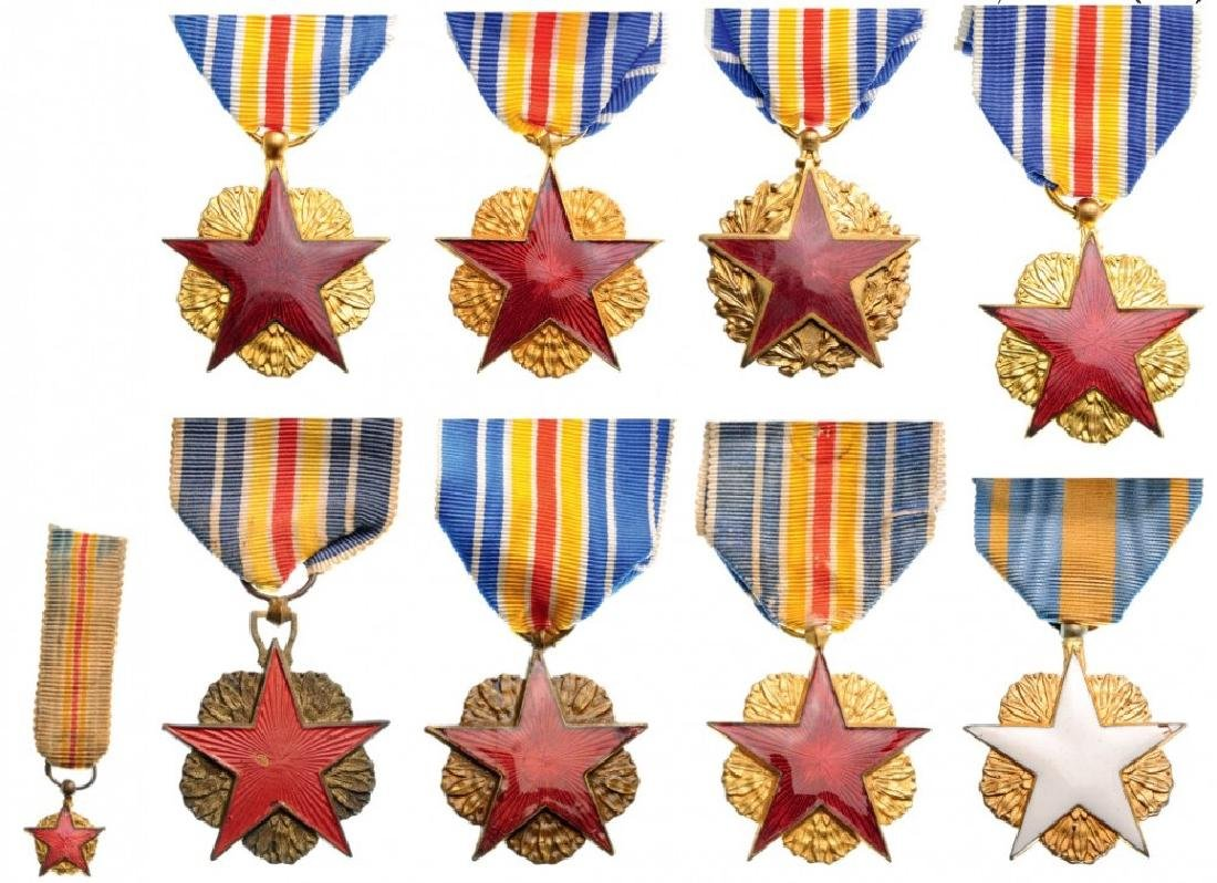 Lot of 9 Wounded Medals