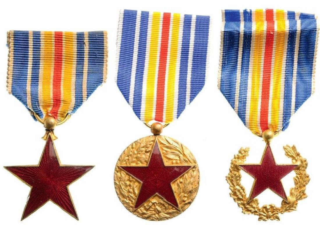 Lot of 3 Wounded Medals