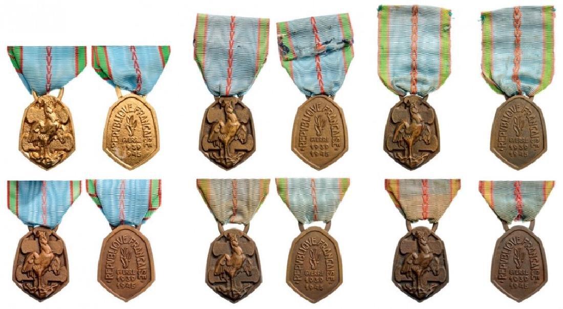 Lot of 6 War Commemorative Medals, 1939-45