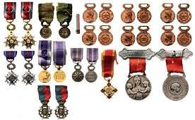 Lot of 14 Different Philanthropic Societies Medals