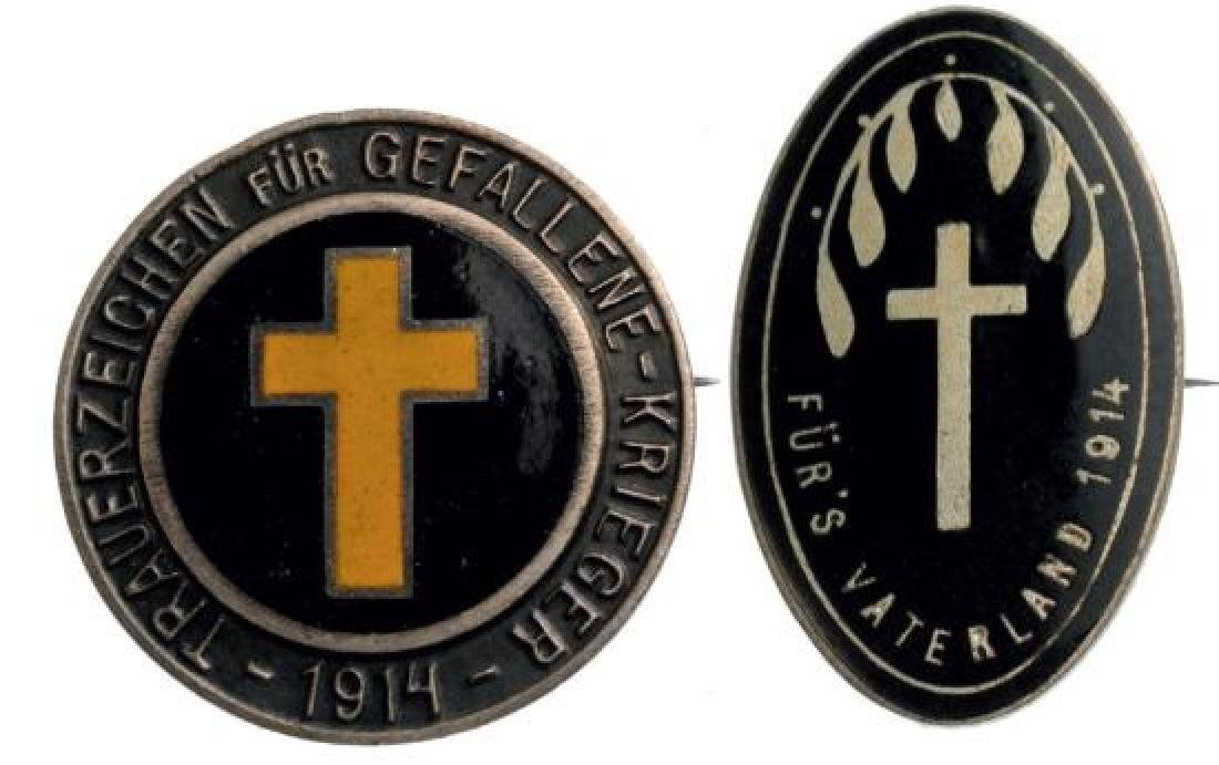 Badges of Catholic Associations in Support of Fallen
