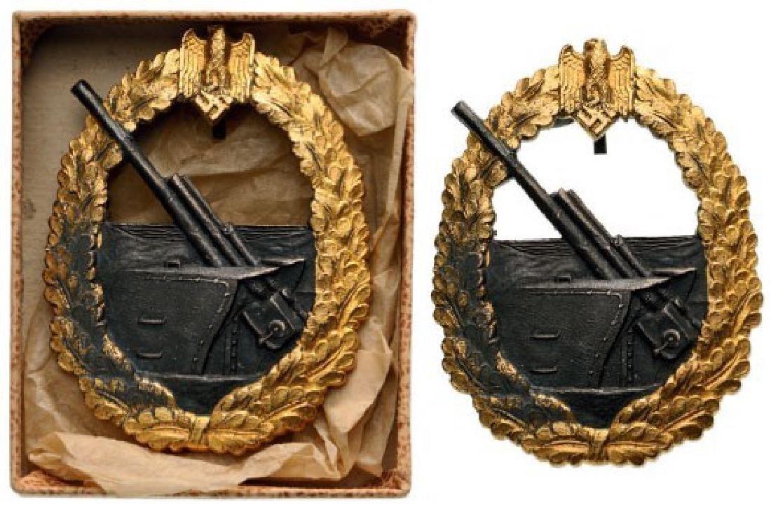 Kriegsmarine Artillery War Badge, instituted in 1941