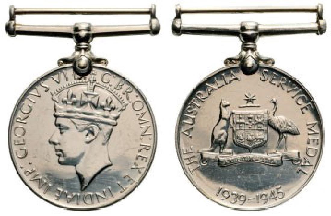 Australia Service Medal 1939-1945, instituted in 1949