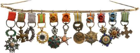 Bar of Miniature Orders 7 and Medals 5