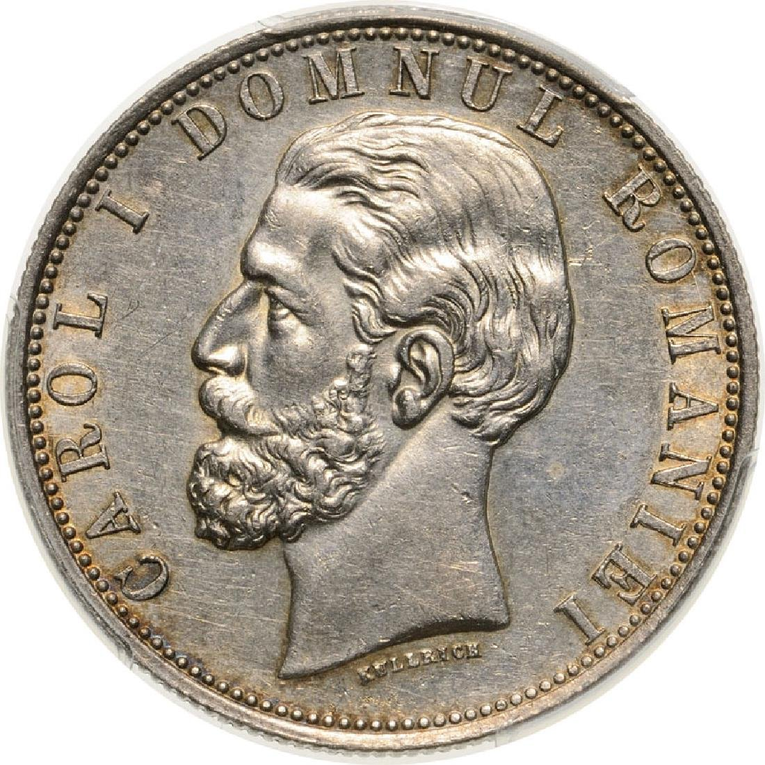 5 Lei 1881, as Prince, Bucharest, Silver