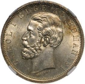 Carol I, 5 Lei 1901, Bucharest, Silver (24.98 g). A