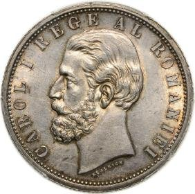 5 Lei 1901, Bucharest, Silver. Deserves better grade!