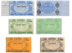 Set of four Banknotes