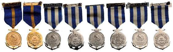 Lot of 4 Navy Military School Merit Badges
