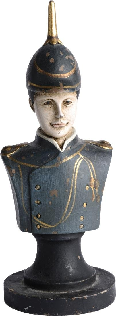Austria Officer with spiked helmet, Ceramic bust