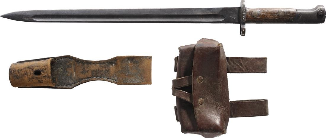 Balkans bayonet, frog and ammo paunch, 1916-1930