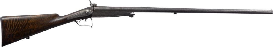 Hunting percussion Rifle with two barrel, 19th Century