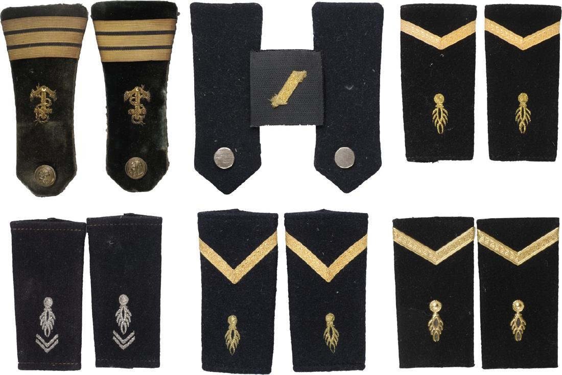Lot of 6 Pair of Epaulets and One Collar Tabs,