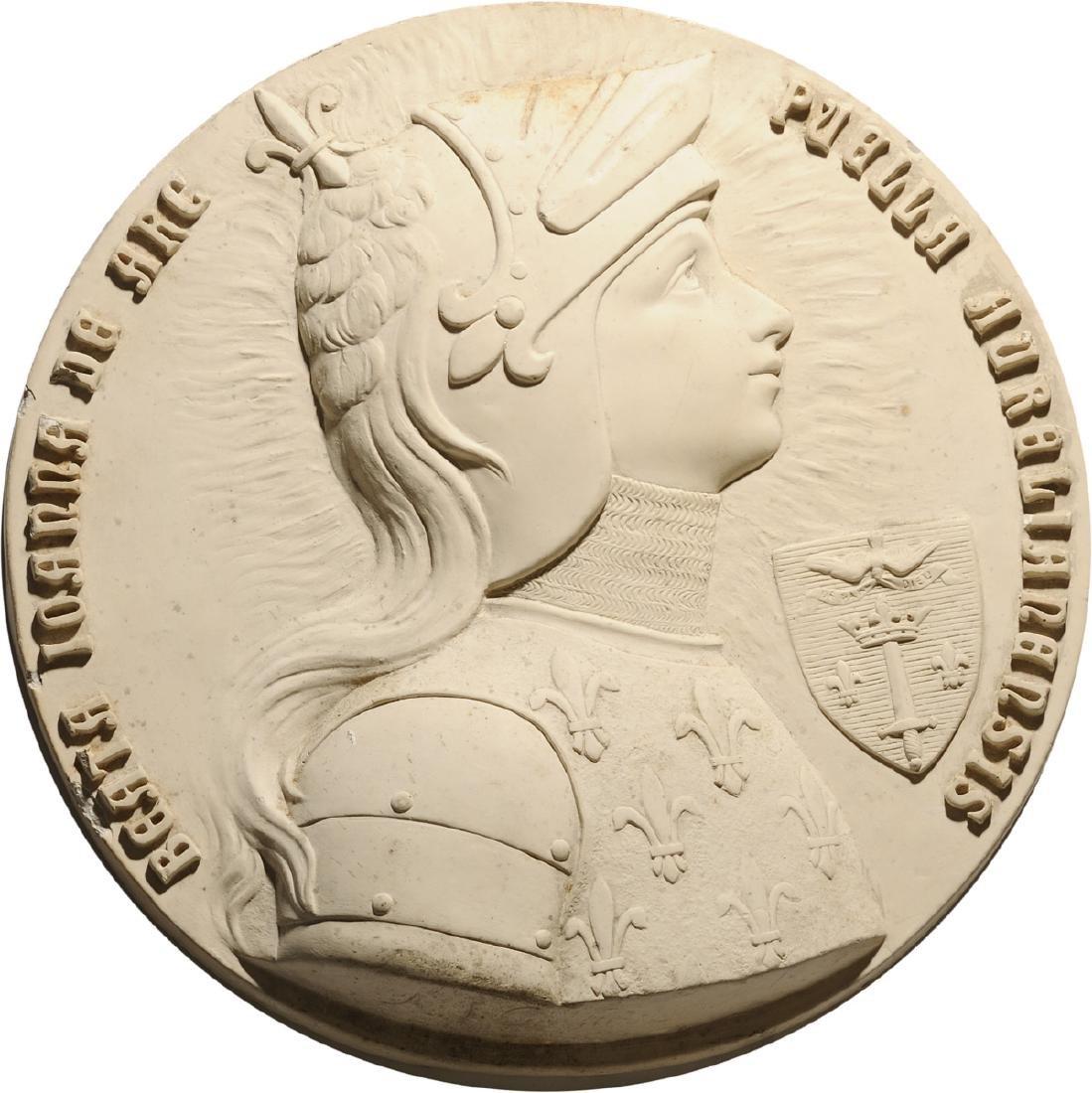 Jeanne D'Arc plaster Plaque, 20th Century
