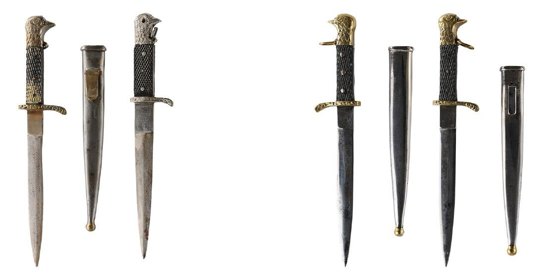 Lot of 3 daggers, with dove head, 1930-1947