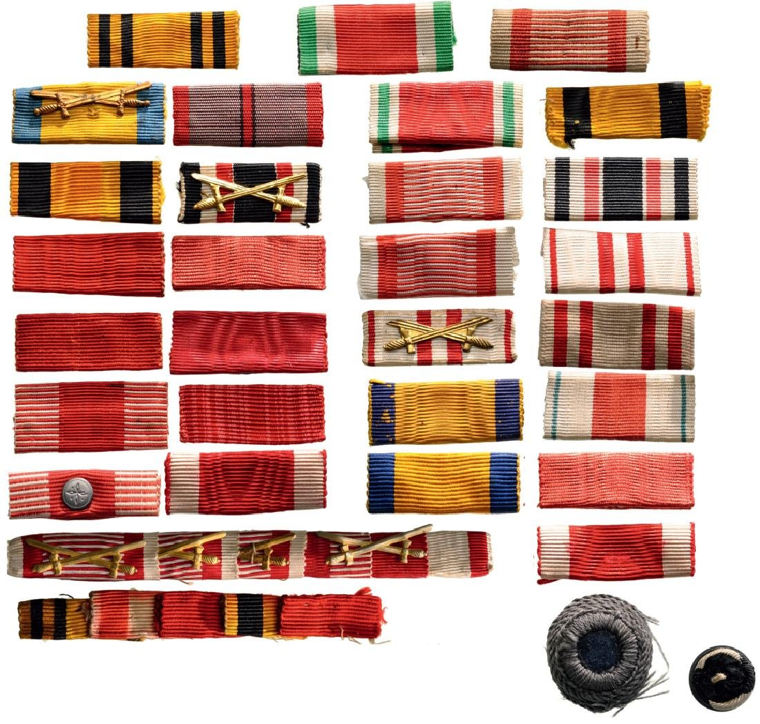 Lot of 32 Ribbon Claps and Bars