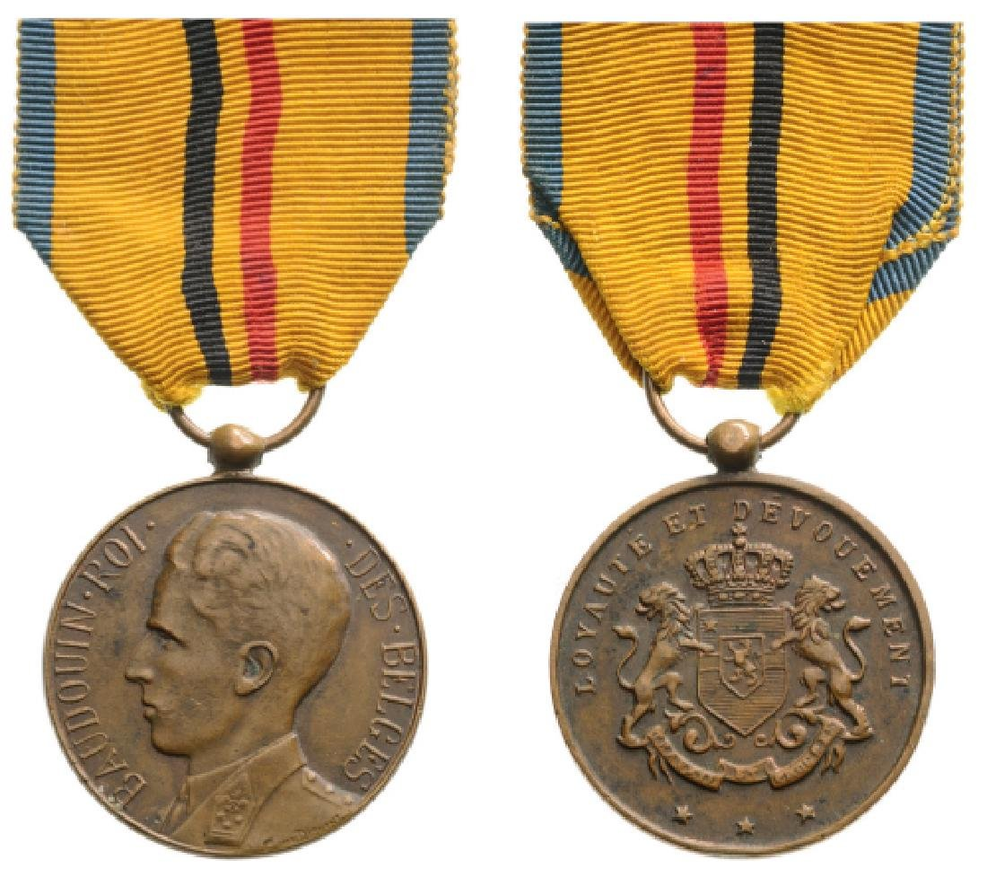 SERVICE MEDAL, BAUDOUIN TYPE, INSTITUTED IN 1892