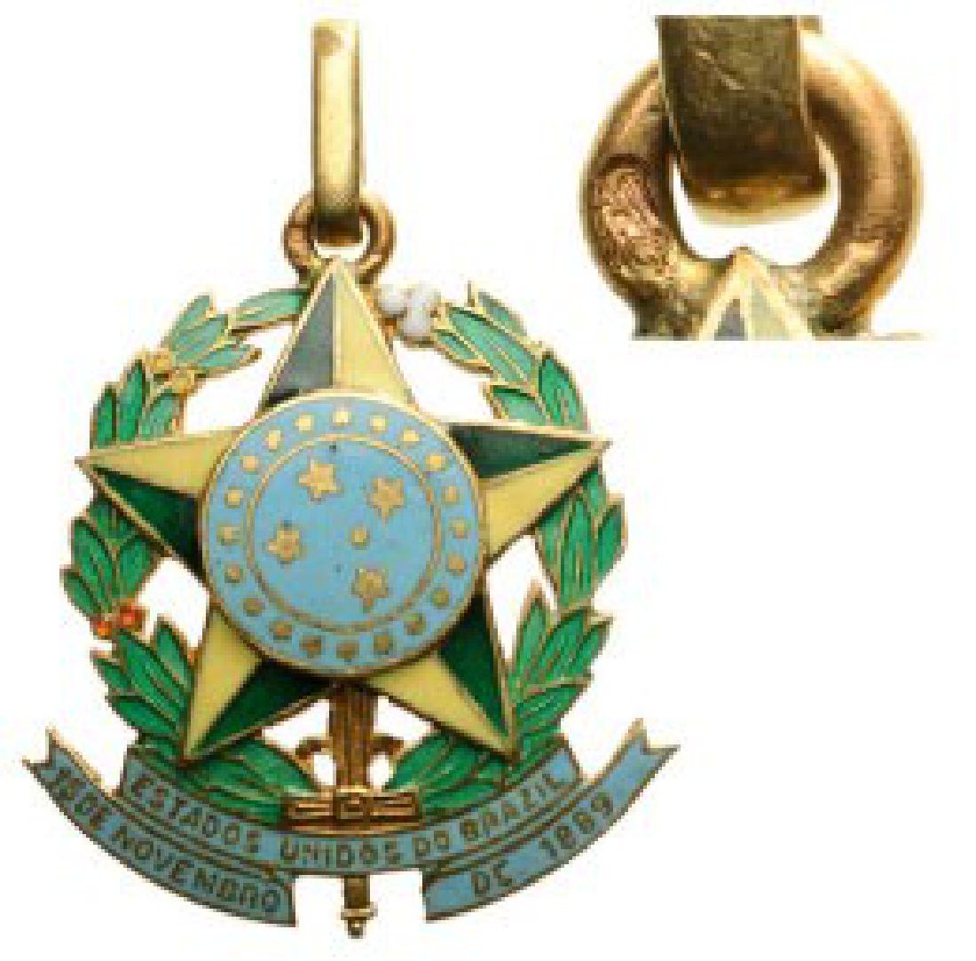 Miniature Medal in the form of the Brazilian coat of