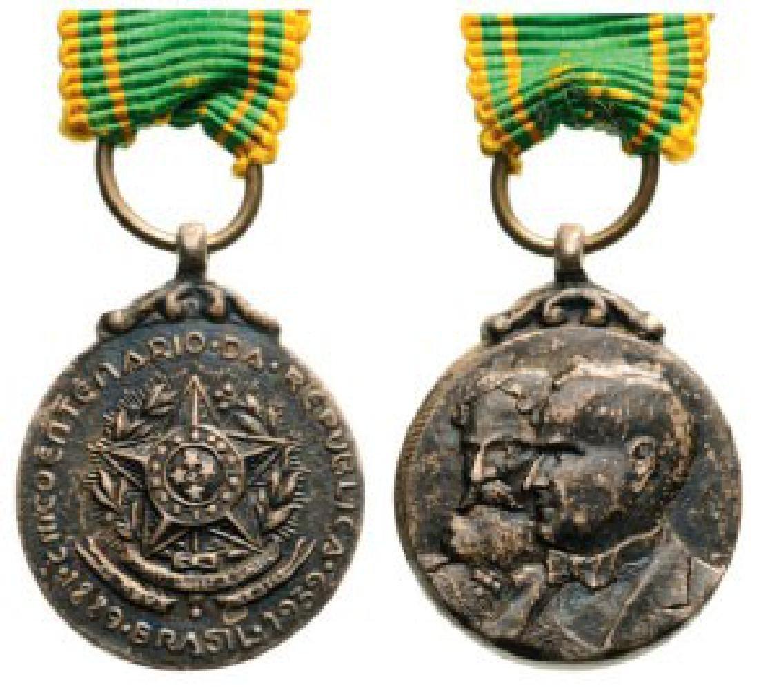 Cinco Centenario Da Republica Medal Miniature, 1889 -