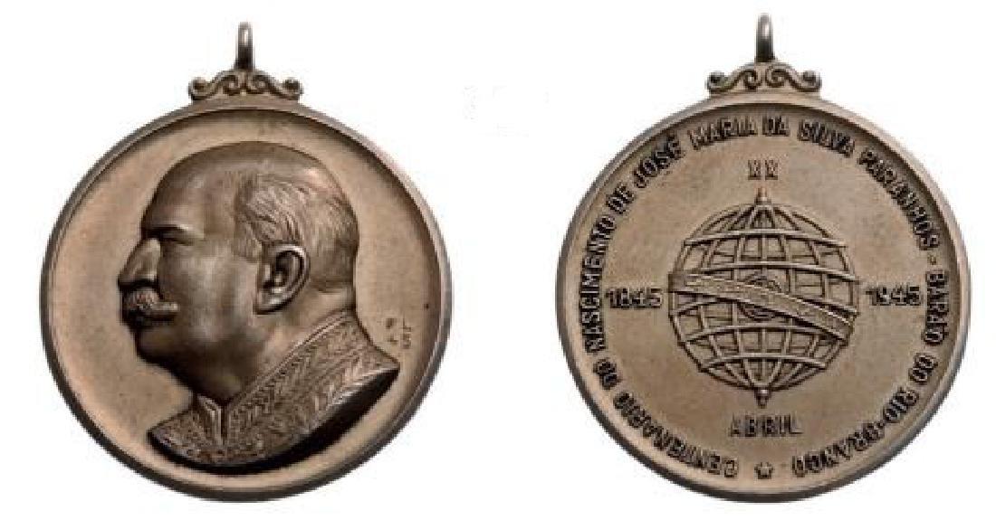 """Medal """"Jose Maria da Silva Paranhosâ€, for the"""