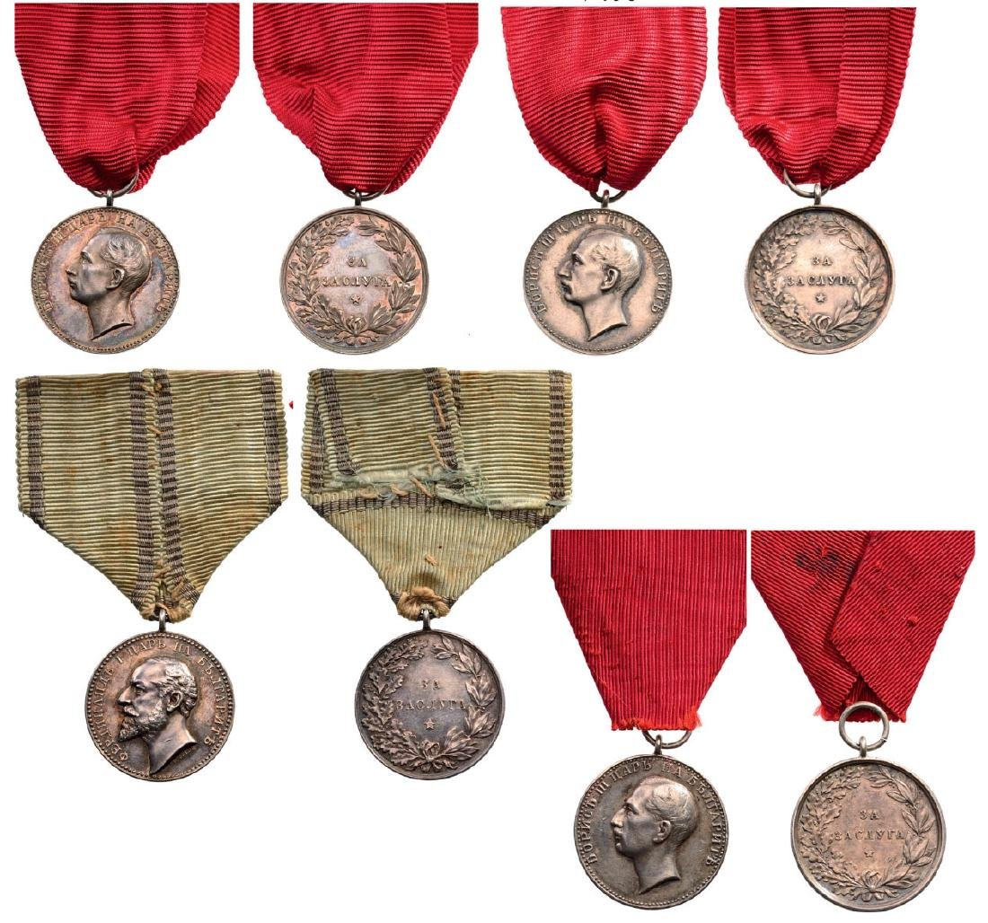 Lot of 4 Medal of Merit