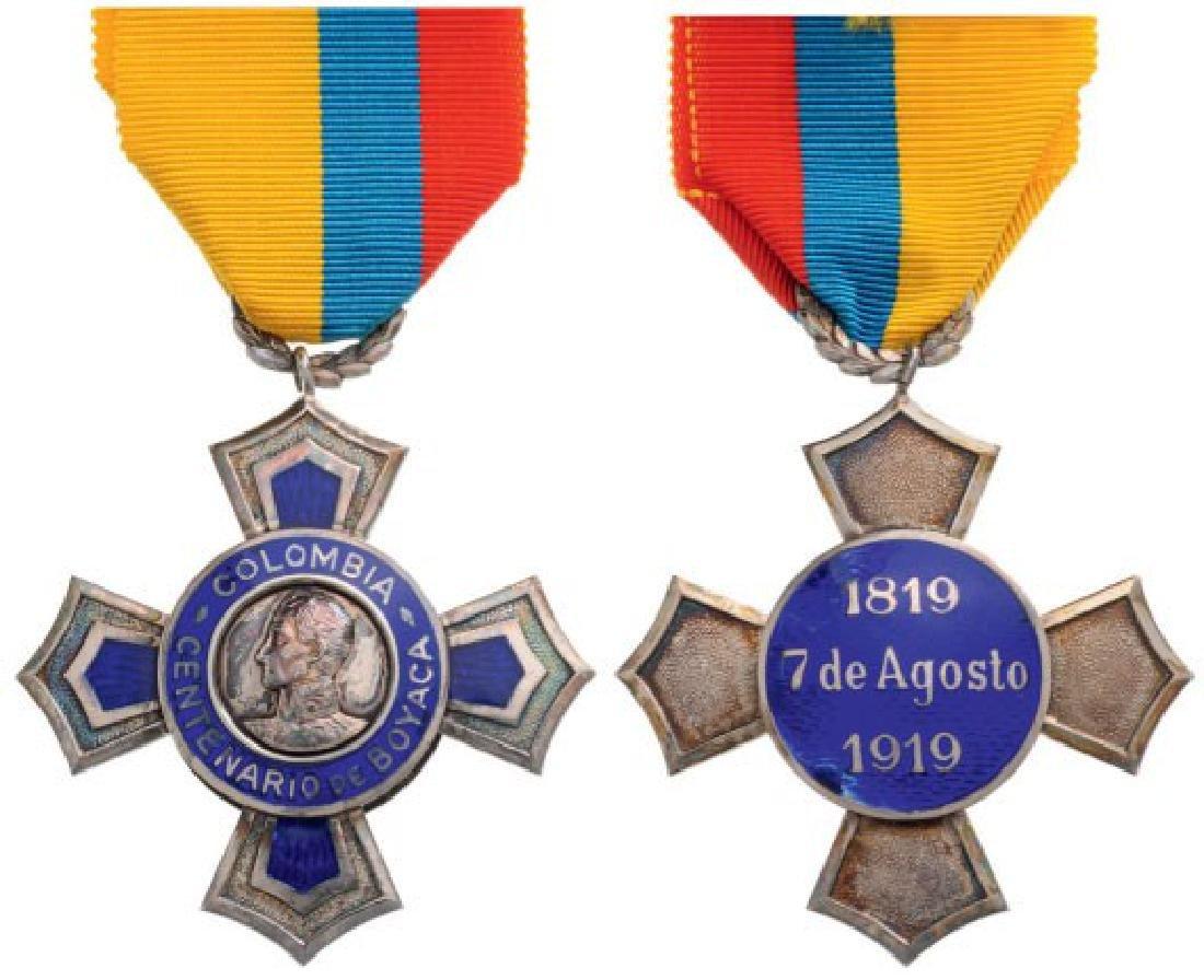 Centennial Cross of Boyaca, instituted in 1919