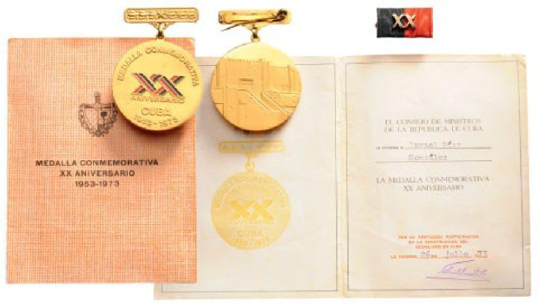 Medal for the 20th Anniversary of the Cuban Revolution