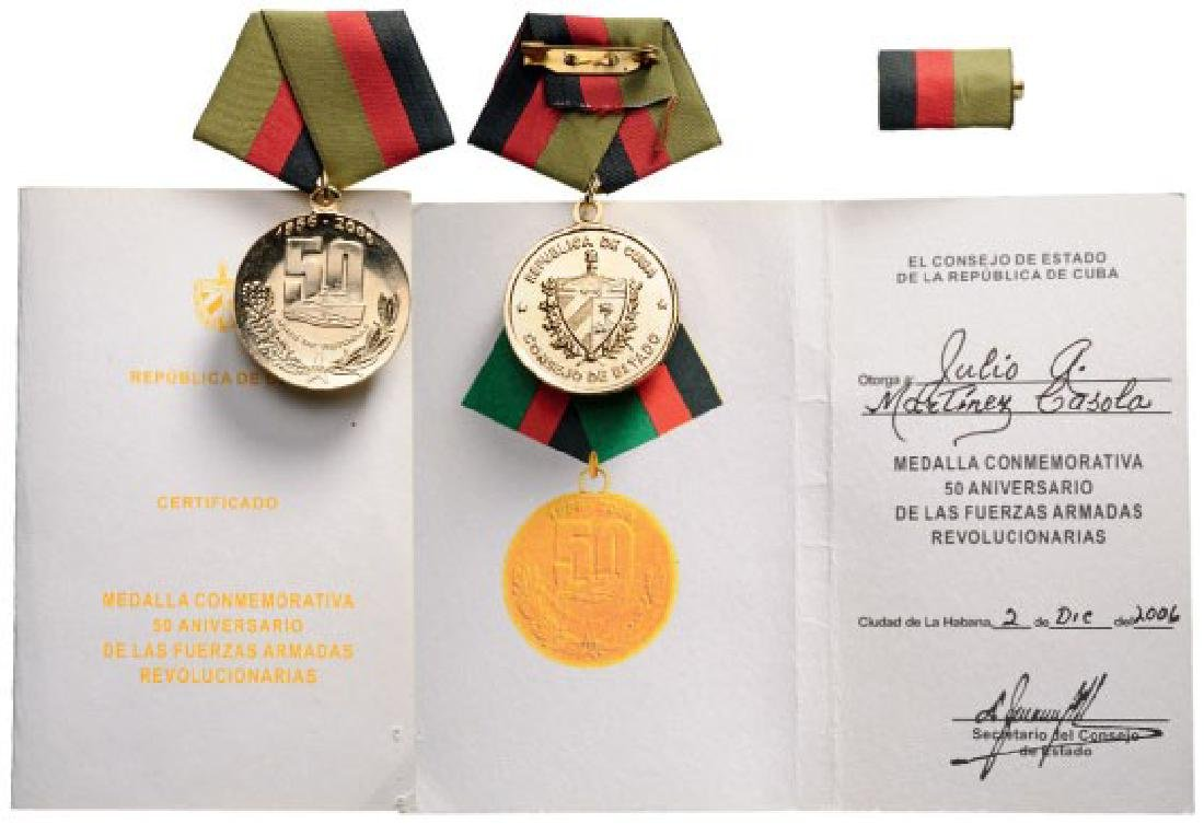 Medal for the 50th Anniversary of the Cuban Armed