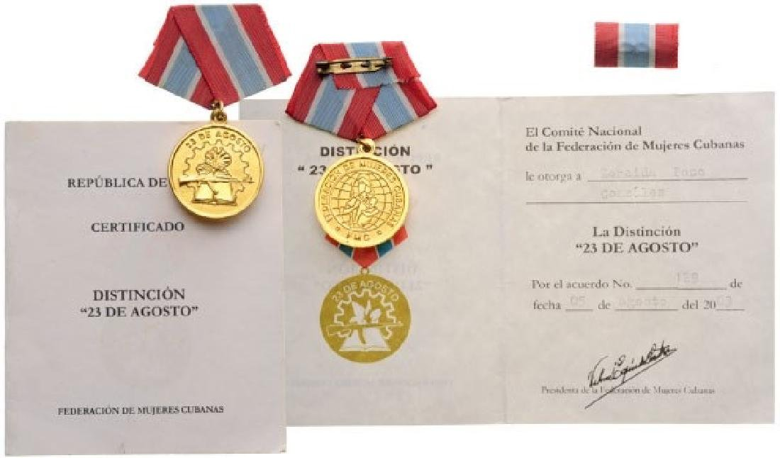 Cuban Federation of Women Medal for the 23rd of August