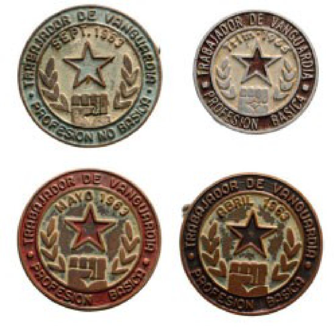 Outstanding worker, 4 different Badges, 3 from 1963 and