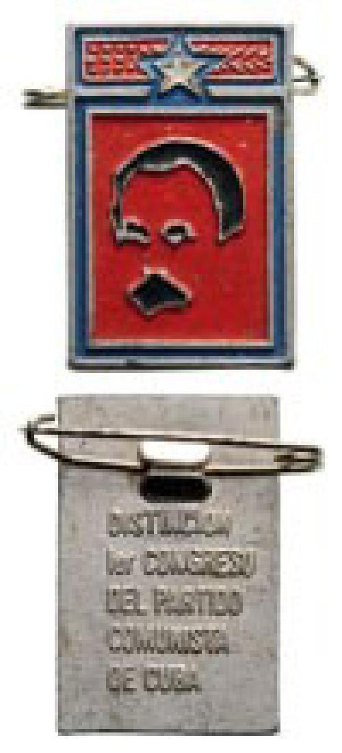 1st Congress of the Cuban Communist Party Honour Badge