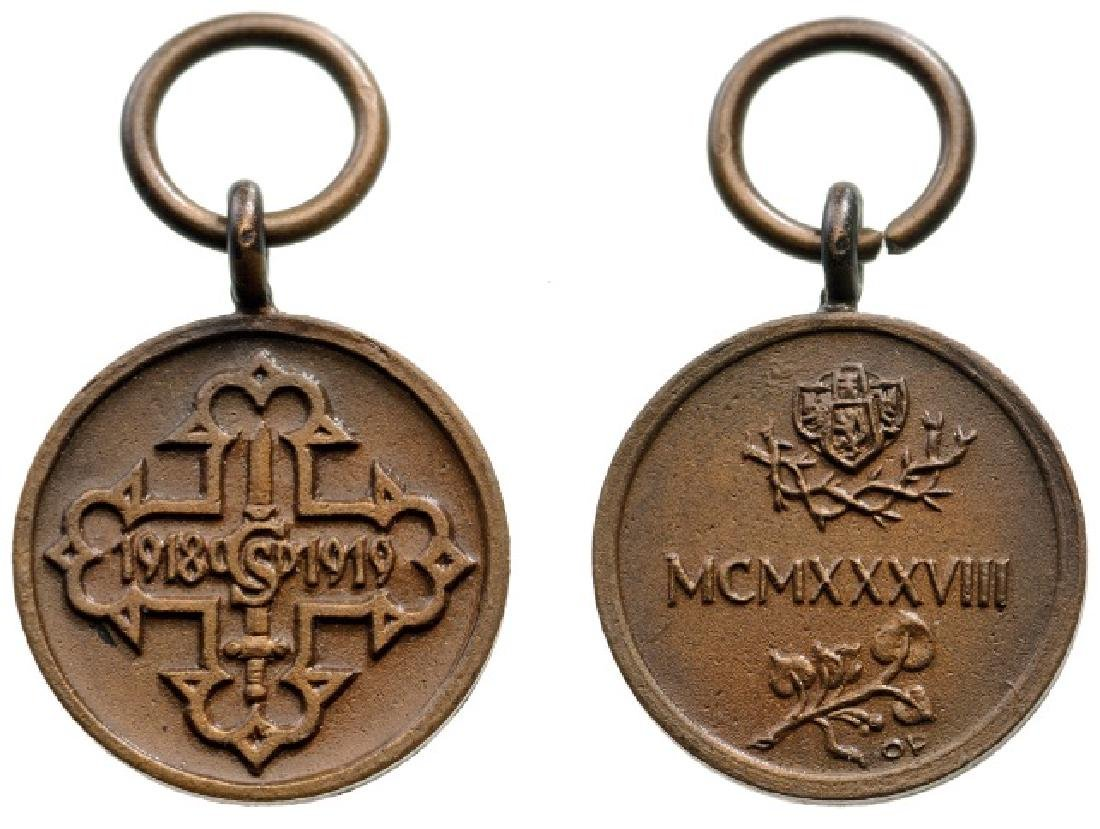 MEDAL FOR CZECH VOLUNTEERS, 1918-1919