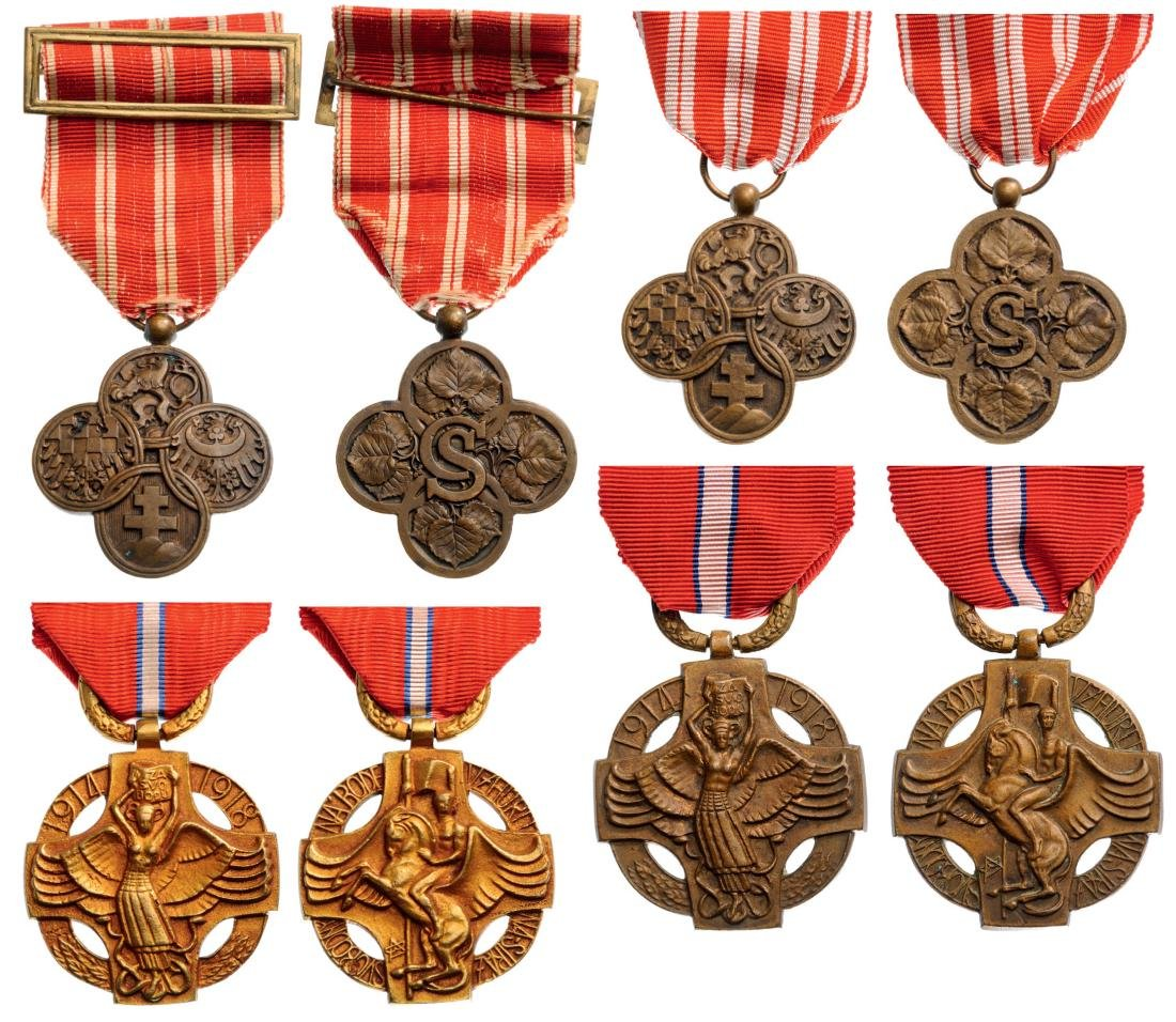 War Cross, 1914-18 (2), Revolutionary Medals (2)