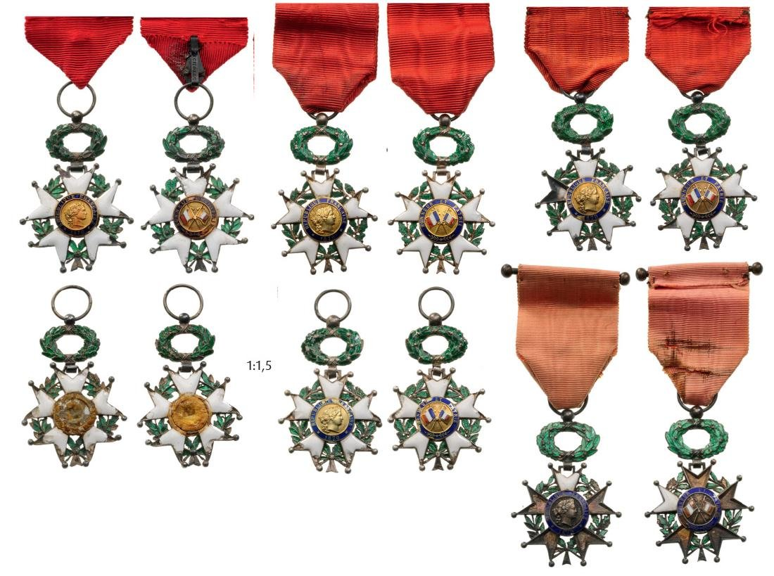 Lot of 6 ORDER OF THE LEGION OF HONOR
