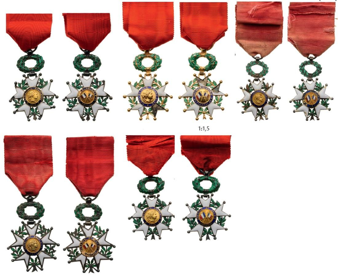 Lot 0f 5 ORDER OF THE LEGION OF HONOR