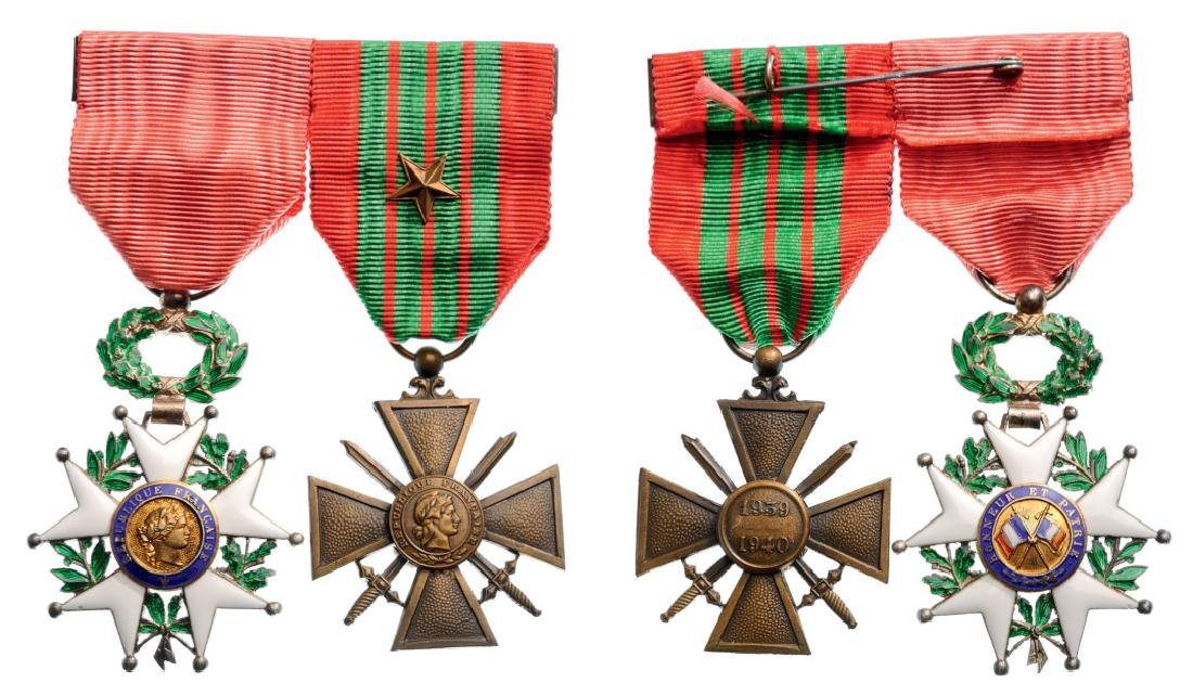 Medal Bar with 2 Decorations