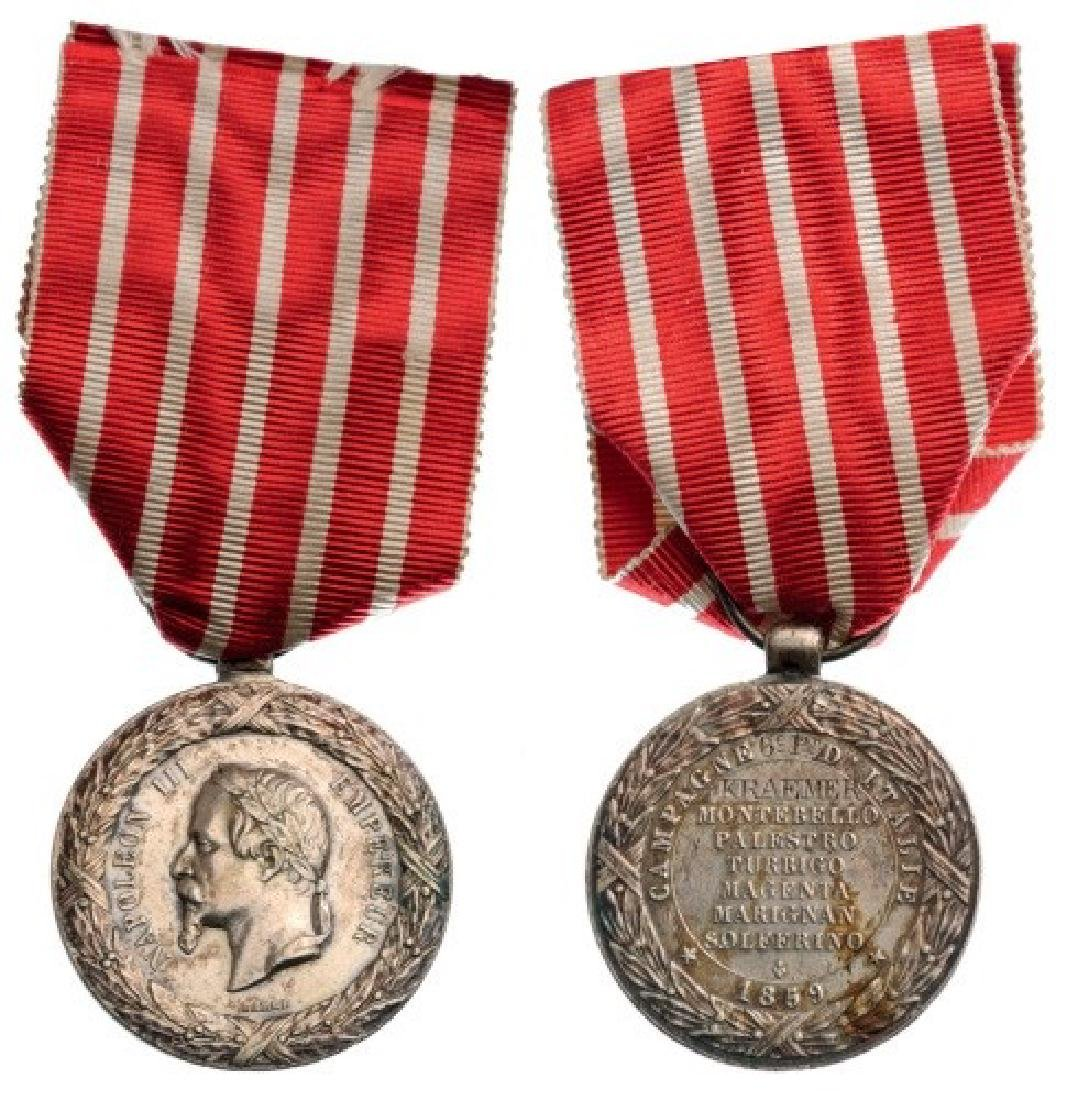 Italy Campaign Medal, instituted in 1859