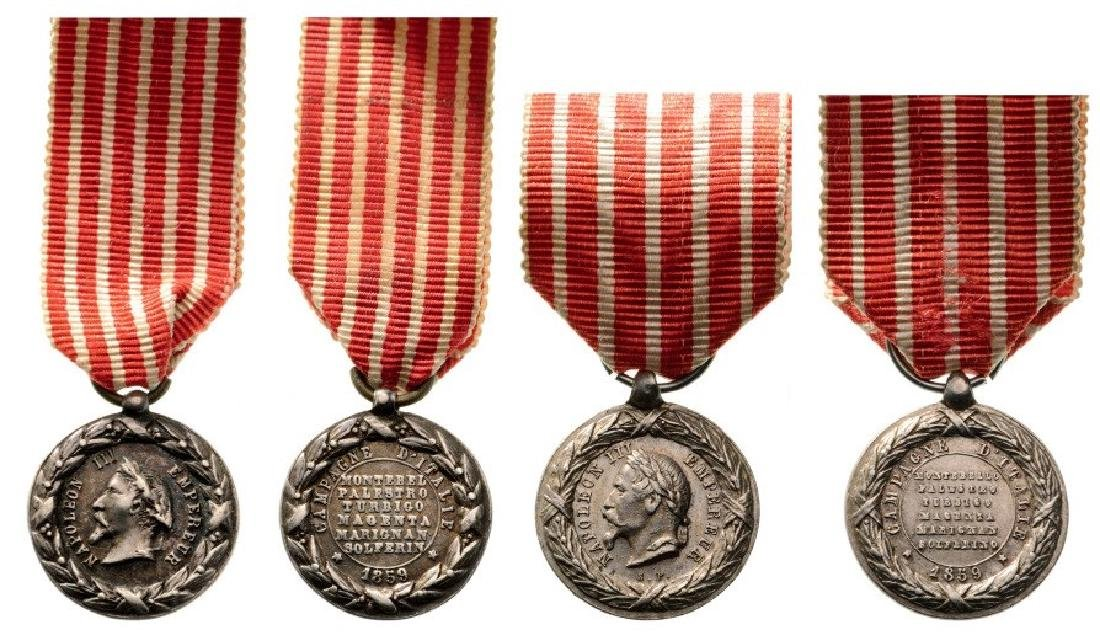 Italy Campaign Medals, one signed S.F. (Sacristain),