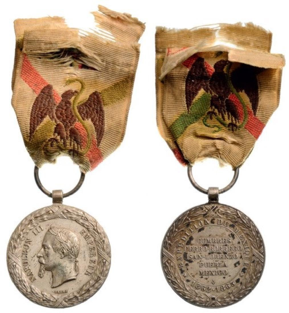 Mexico Campaign Medal, instituted in 1863