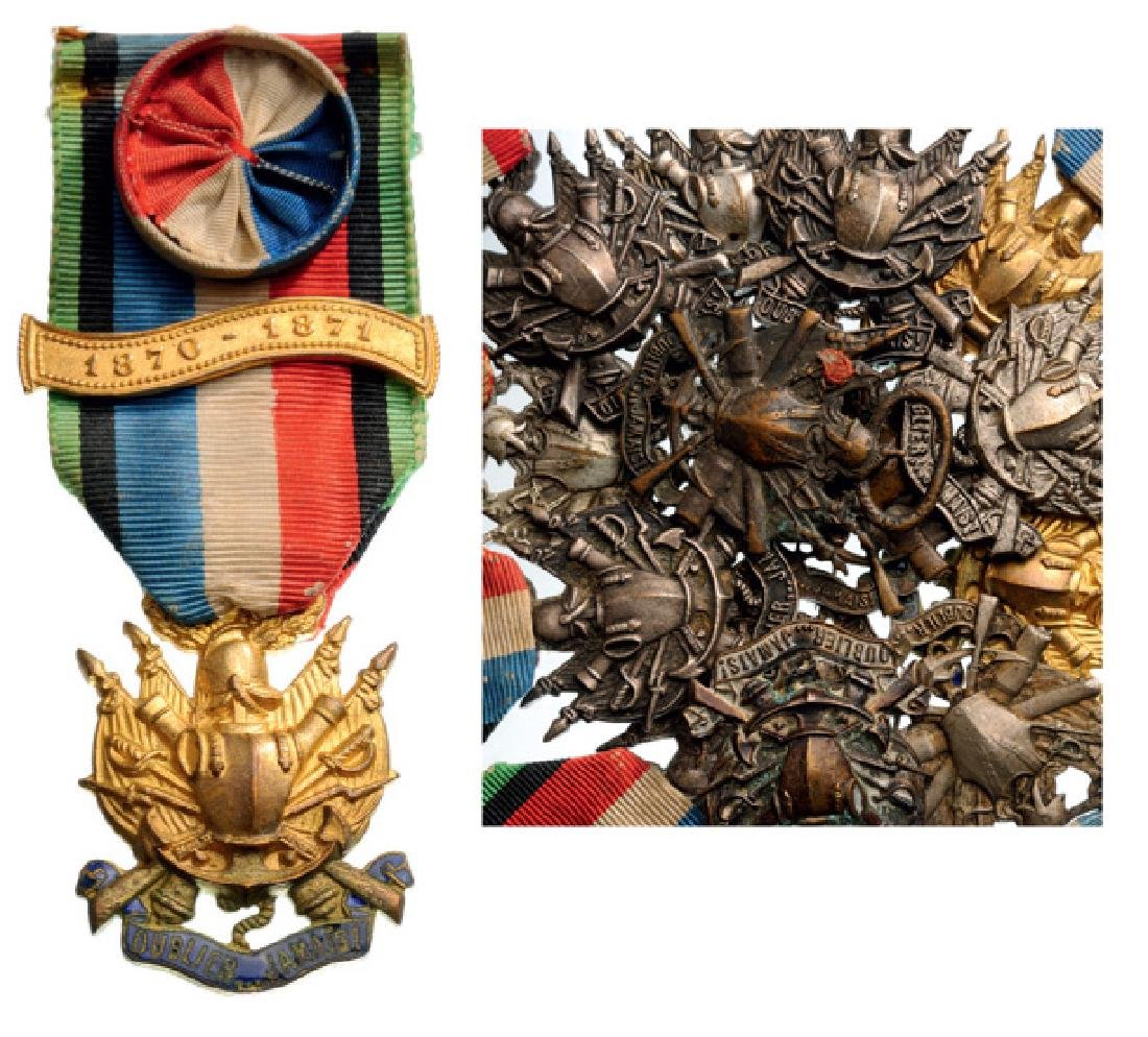 Lot of 13 Medal of the Society of 1870-71 War Veterans,