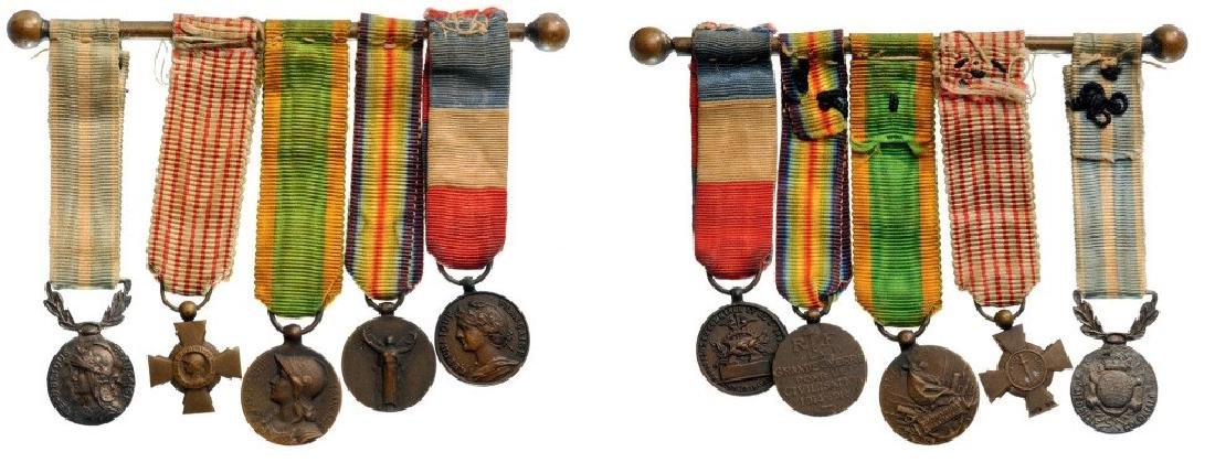 Medal Bar with 5 Decorations