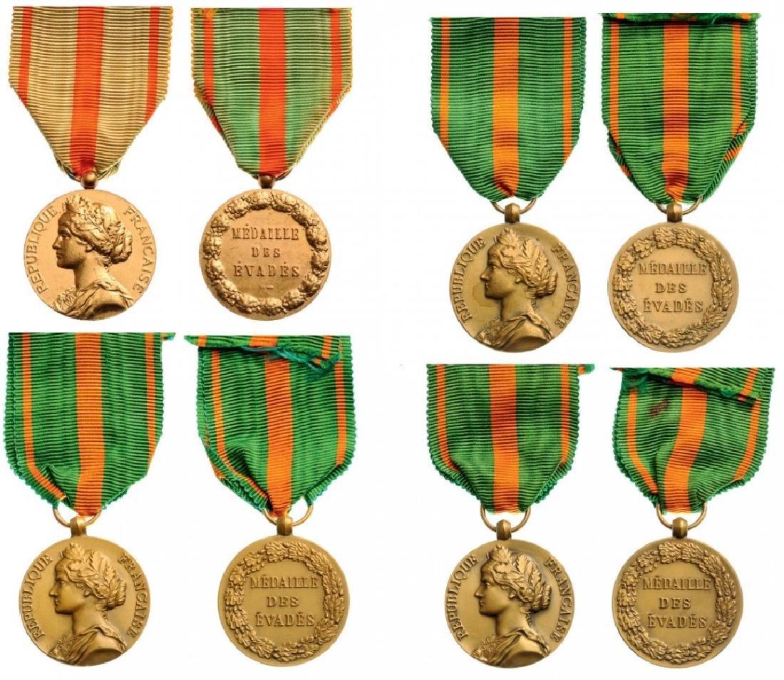Lot of 4 Escapees Medals
