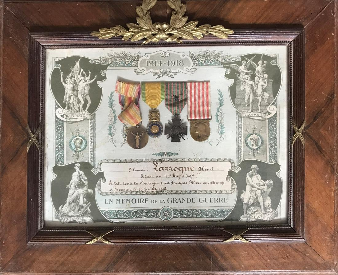 Framed Veteran Group of 7 Decorations